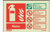 6374ID/R - WATER EXTINGUISHER IDENTIFICATION SIGN 100 x 150mm